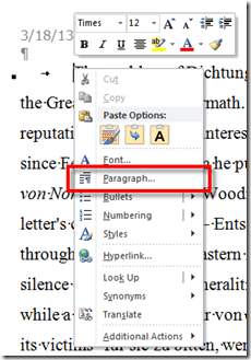 Paragraph formatting on Windows