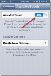 Turn on AssistiveTouch