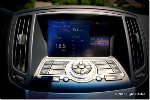 Center Display - 2013 Infiniti G37 IPL convertible