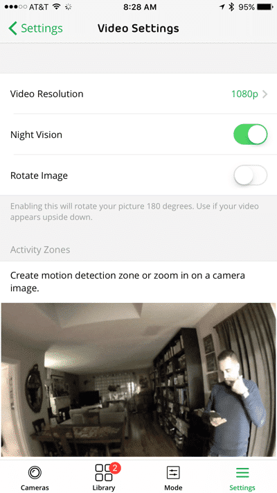 HTD NETGEAR Arlo Q - video settings