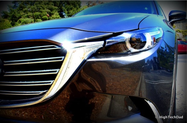 HighTechDad 2016 Mazda CX-9 Review - front headlight