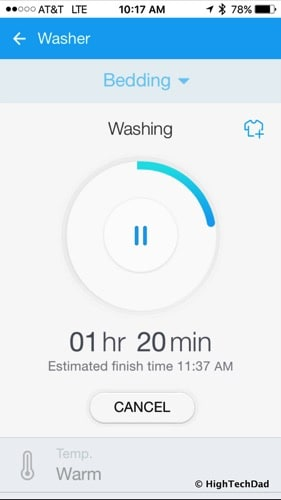 2016 Samsung Clothes Washer (Model WF50K7500AV) Review - Smart Home app