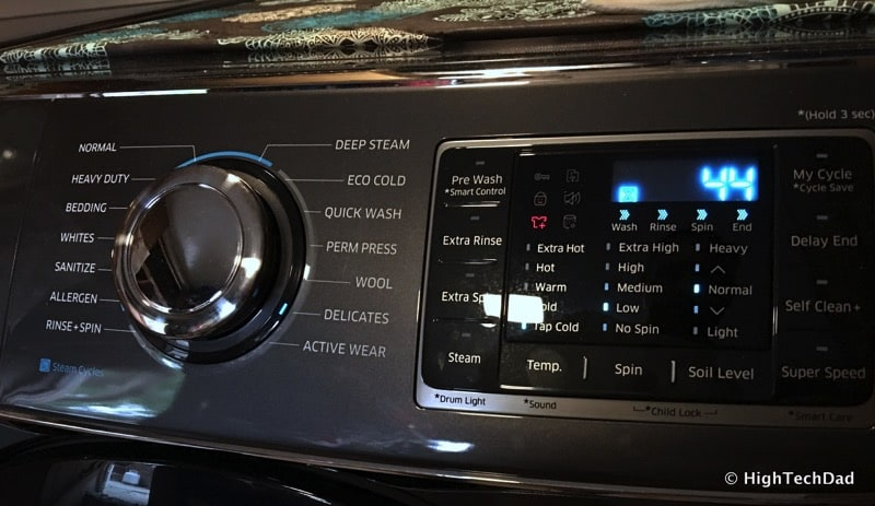 2016 Samsung Clothes Washer (Model WF50K7500AV) Review - front panel