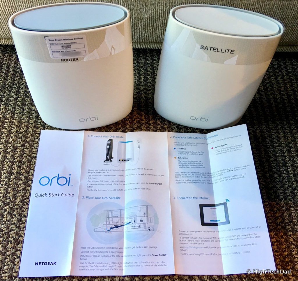 NETGEAR Orbi Mesh WiFi Router - quick start