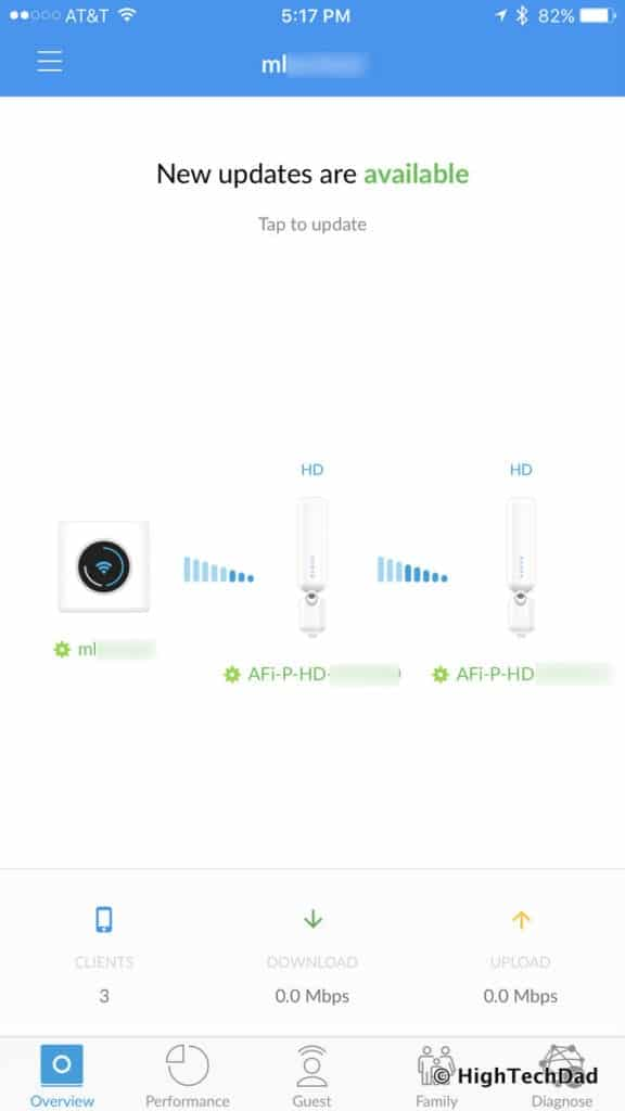 AmpliFi HD Mesh Wifi Router Review - daisy-chain