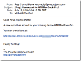 Prey_email_notification