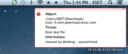 Mac_Real-time detection notification