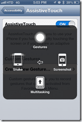 AssistiveTouch commands - screen 3