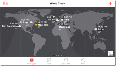 Tips for iPhone 6 and 6 Plus - world clock