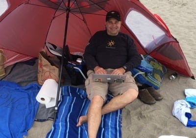 AT&T Unite Pro - working on the beach
