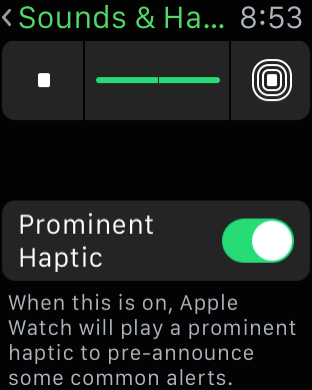 Apple Watch Tips - Prominent Haptic