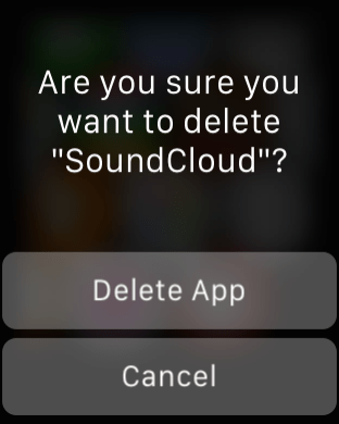 Apple Watch Tips - Delete App
