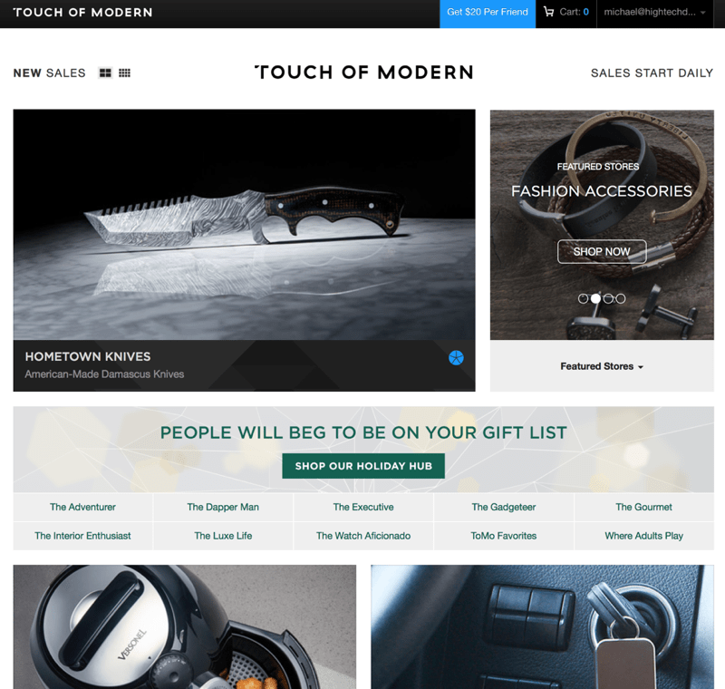 HTD Touch of Modern - Categories