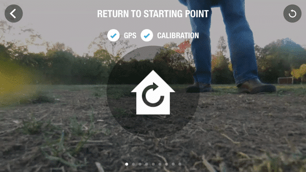 HTD Parrot Drone - return to starting point