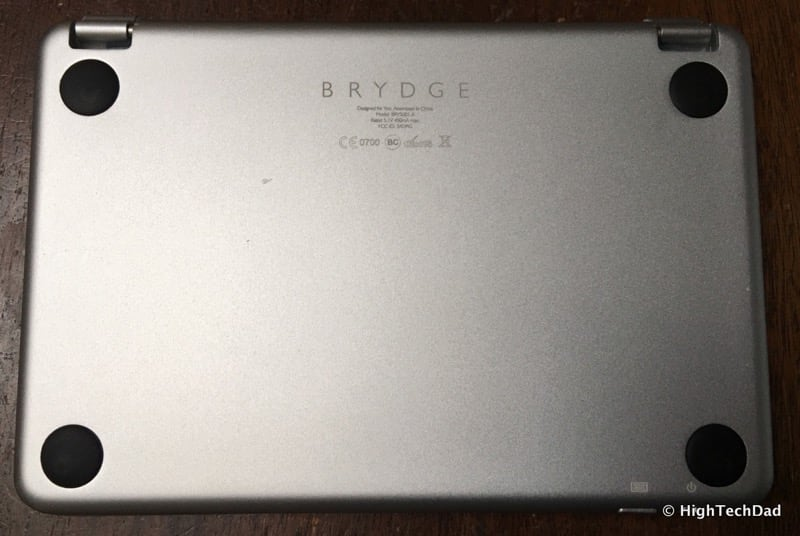 HTD Brydge Keyboard - back