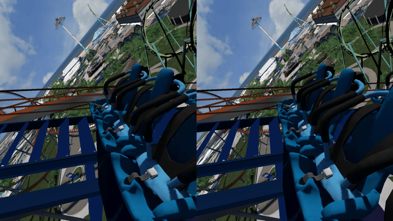 HTD - Homido & Homido midi - view of VR rollercoaster