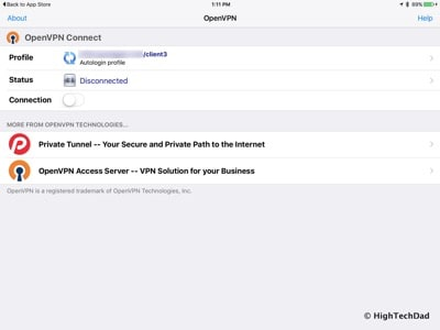 HTD OpenVPN & NETGEAR - OpenVPN Connect on iPad