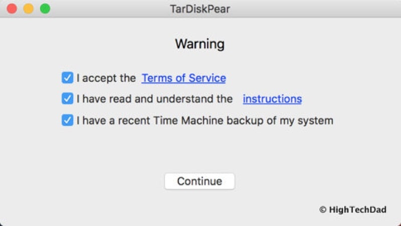 HTD TarDisk Pear - confirmations