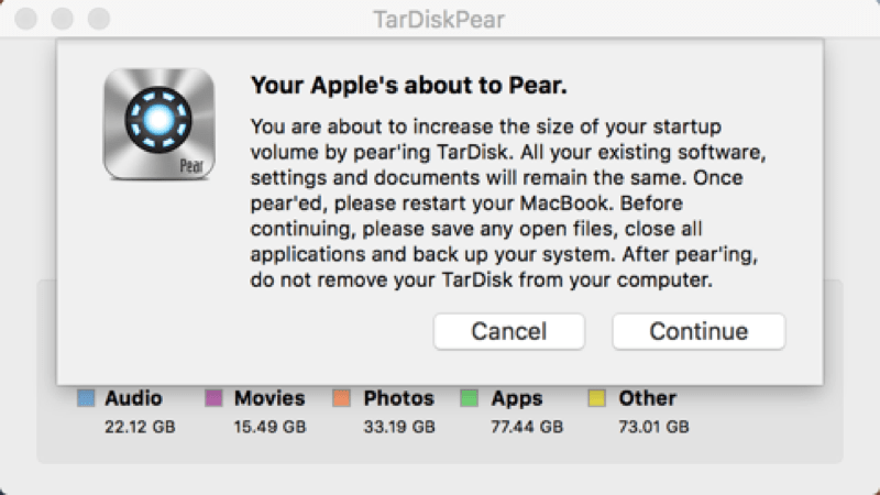 HTD TarDisk Pear - about to pear