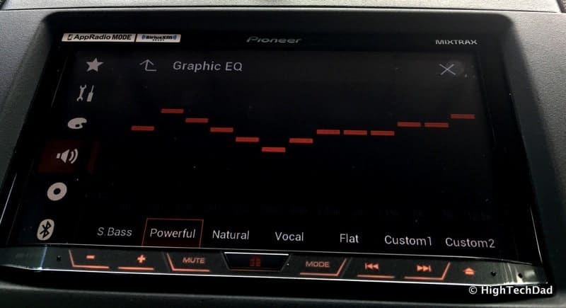 Pioneer AVH-4100NEX Review - graphic equalizer