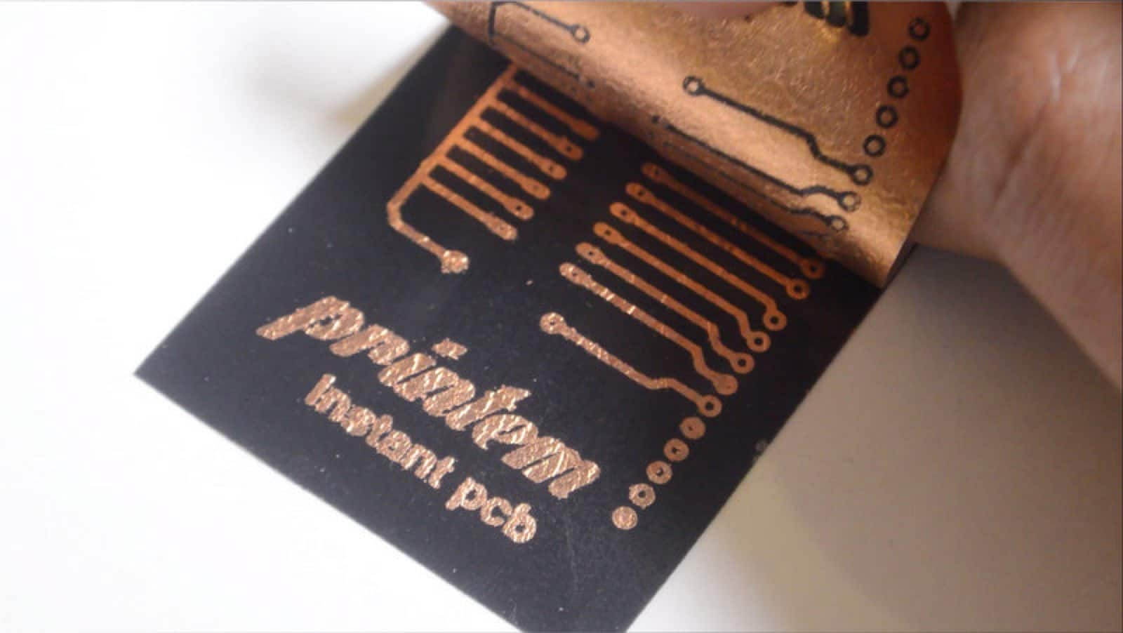Printem - a printed circuit board using your printer