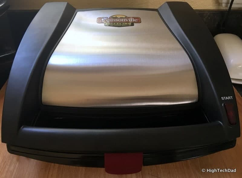 HighTechDad Johnsonville Sizzling Sausage Grill - grill closed