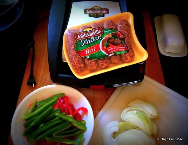 HighTechDad Johnsonville Sizzling Sausage Grill - a quick meal
