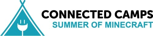 "Connected Camps ""Online Summer of Minecraft"" - logo"