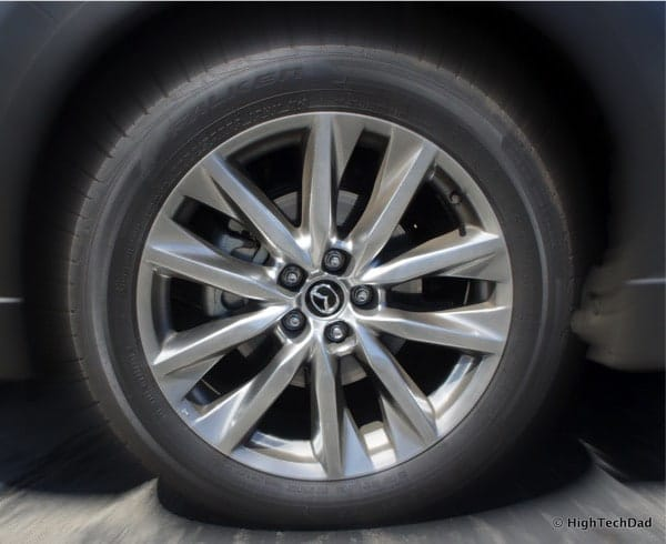 HighTechDad 2016 Mazda CX-9 Review - front wheel