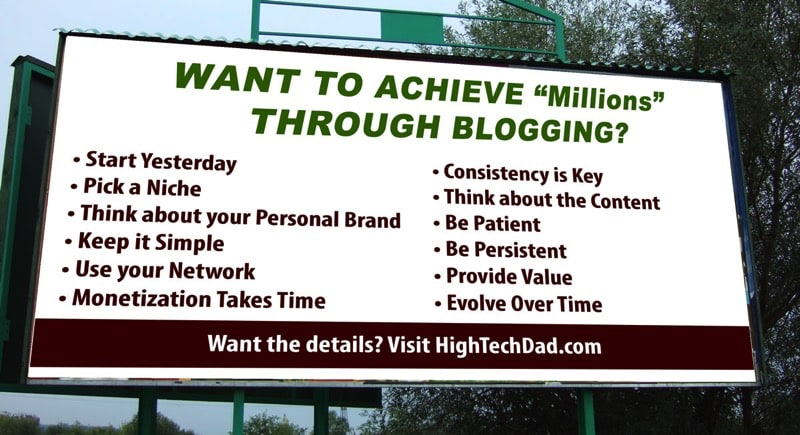 "HTD Billboard - Want to achieve ""millions"" through blogging"
