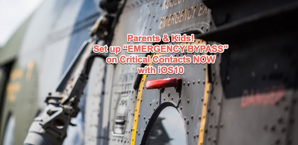 iOS 10 - Emergency Bypass - Set this now!