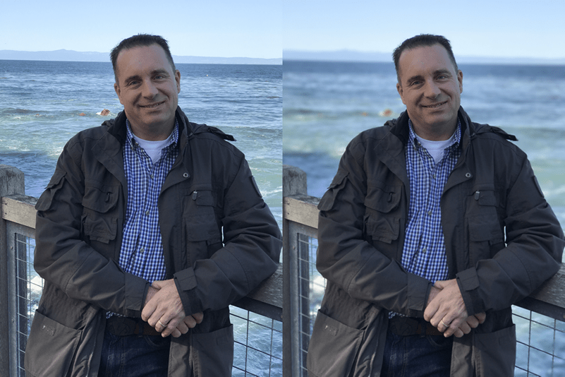 HighTechDad - iPhone 7 Plus side-by-side portrait mode #1