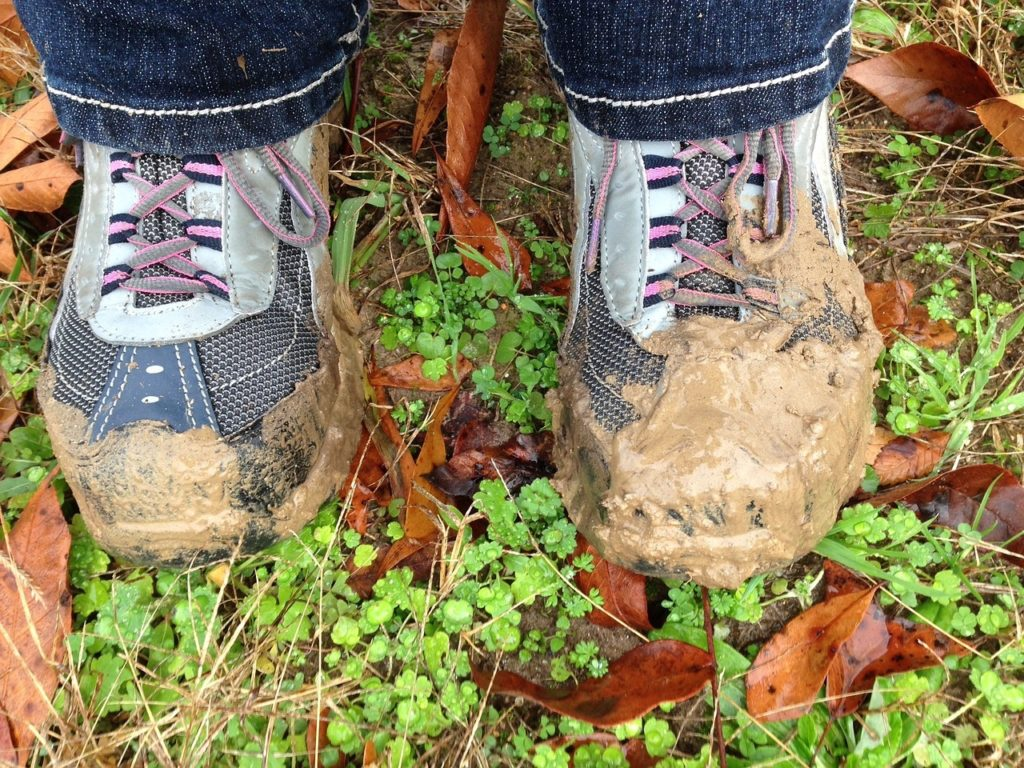 Car Winter Tips - muddy shoes