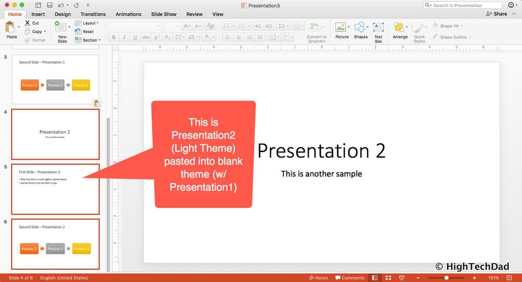 HTD PowerPoint Design - Combo deck with both