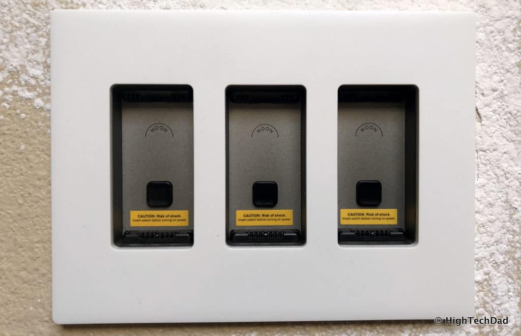 Noon Home Intelligent Switches - attach the faceplate