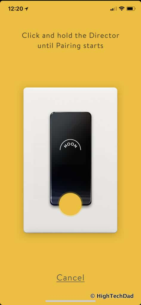 Noon Home Intelligent Switches - pair Noon app with Director