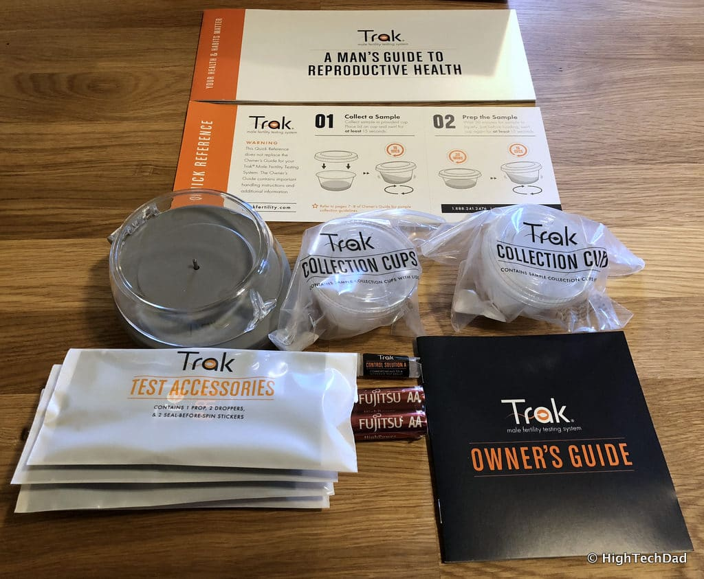 Trak Male Fertility Testing System - what's in the kit