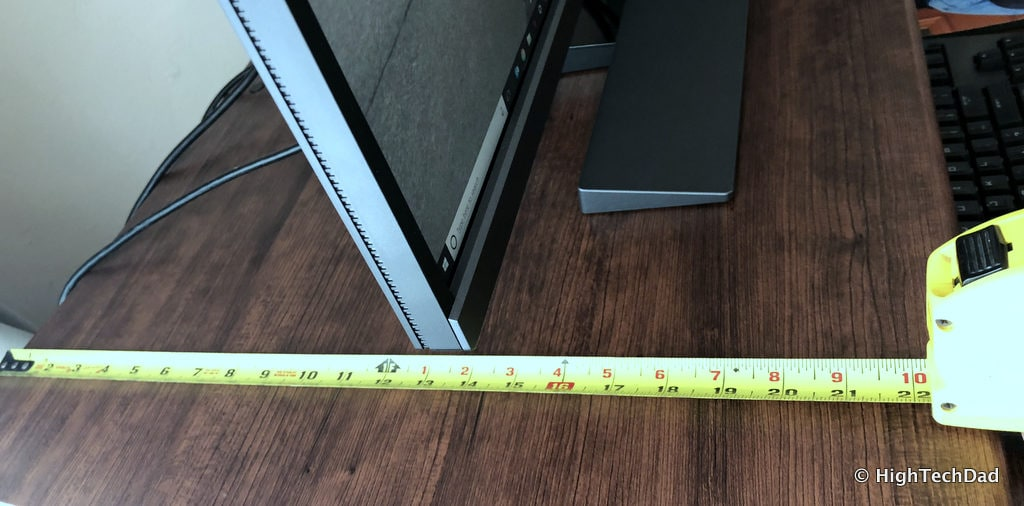 FlexiSpot ClassicRiser Standing Desk Converter review - deep measurement