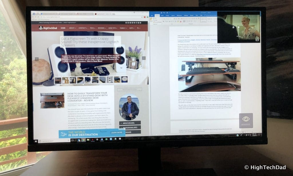 BenQ EW3270U monitor review - two content displays