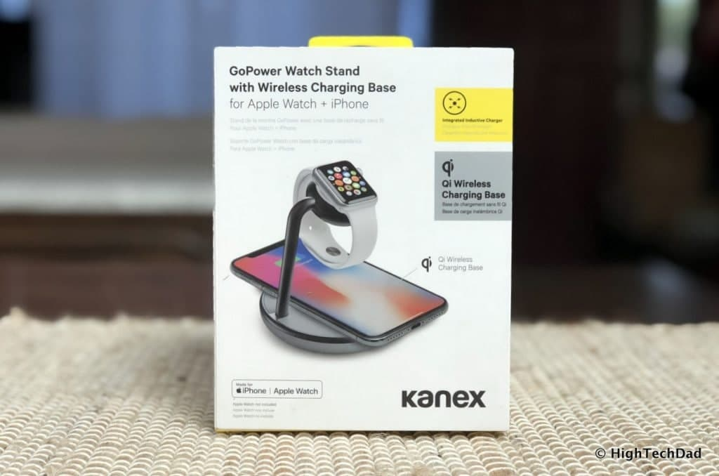 HTD Kanex GoPower Watch Stand with Wireless Charging Base Review - in box