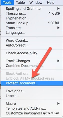 "HTD How to Fix Track Changes in Word for Mac reverting to ""Author"" - Tools menu"