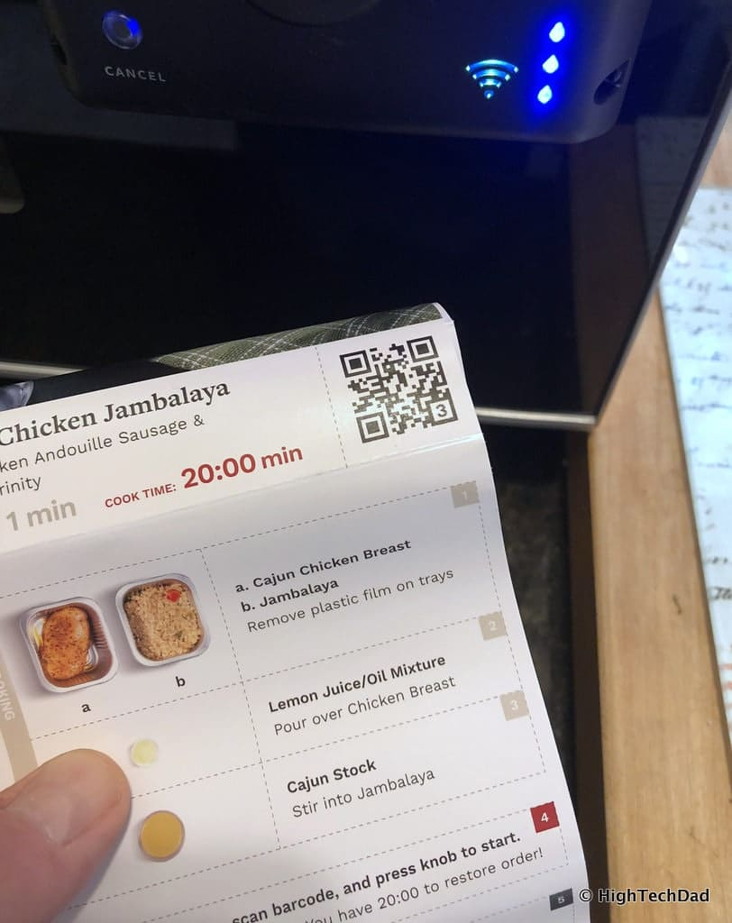 HTD Tovala Steam Oven & Meals Review - barcode reader