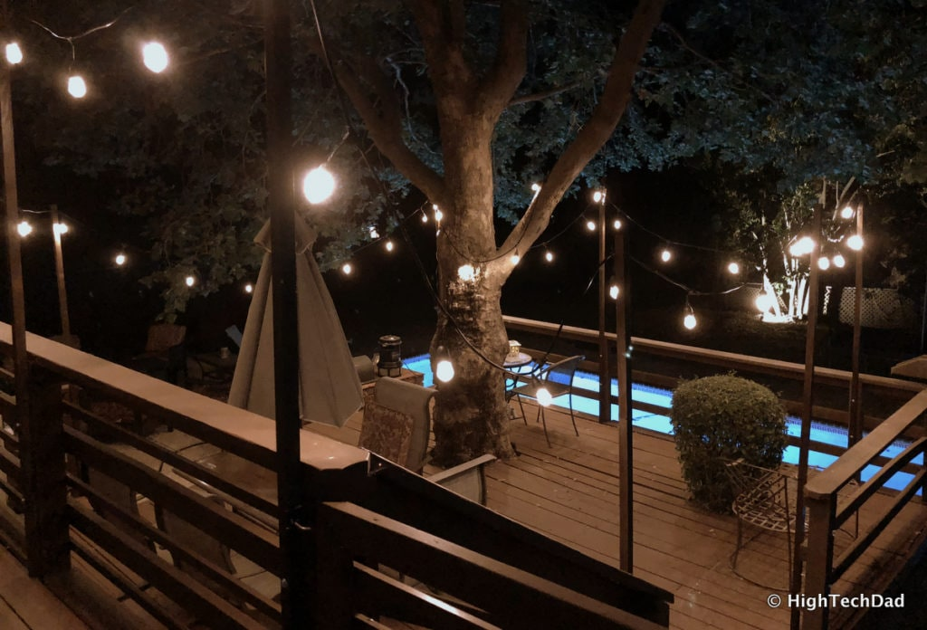 HTD DIY Deck Lighting Post - final result