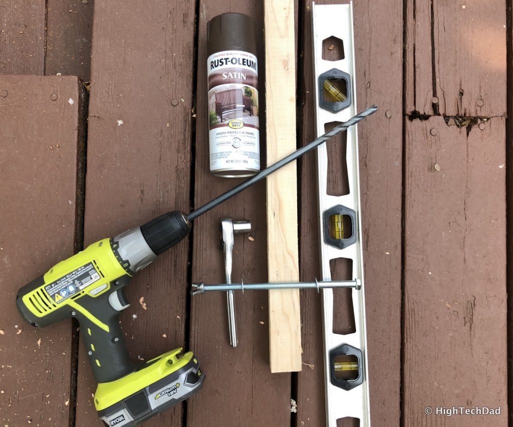 HTD DIY Deck Lighting Post - tools & materials
