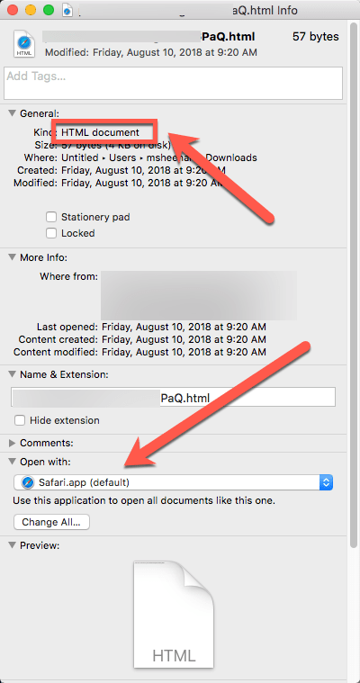 HighTechDad - How To set default application on Mac - Open With