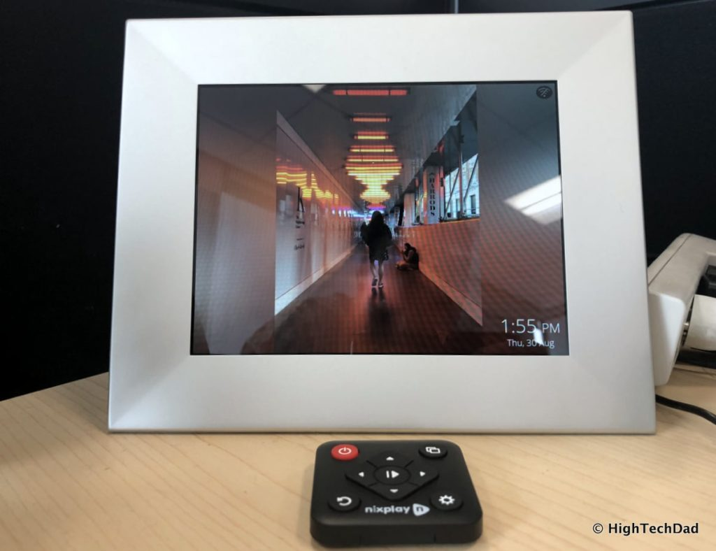 HighTechDad Nixplay Iris Digital WiFi Frame Review - frame and remote