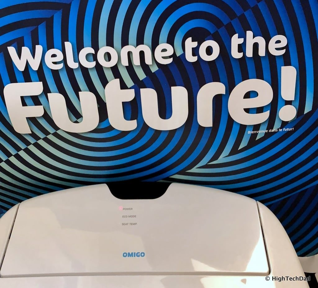 HighTechDad Omigo Toilet Seat Review - welcome to the future