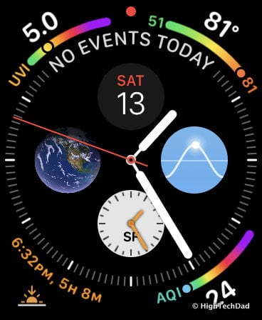 HighTechDad Apple Watch Series 4 - colorful Watch Face