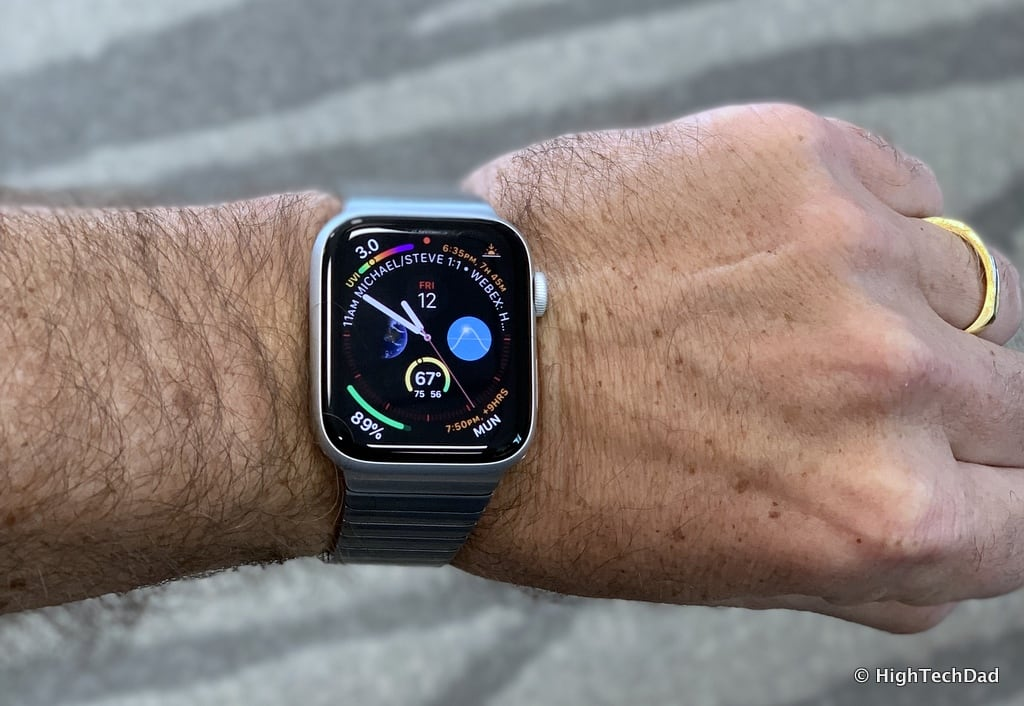 HighTechDad Apple Watch Series 4 - on wrist