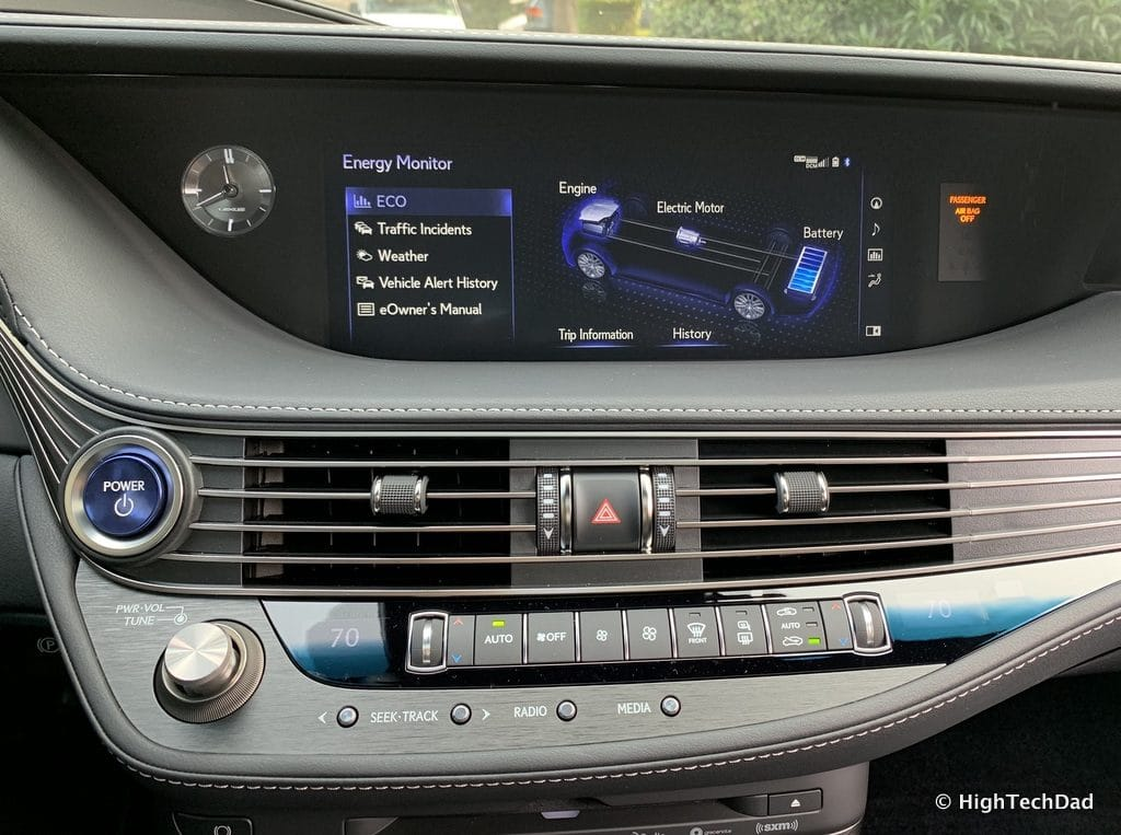 HighTechDad 2019 Lexus LS-500h review - energy monitor